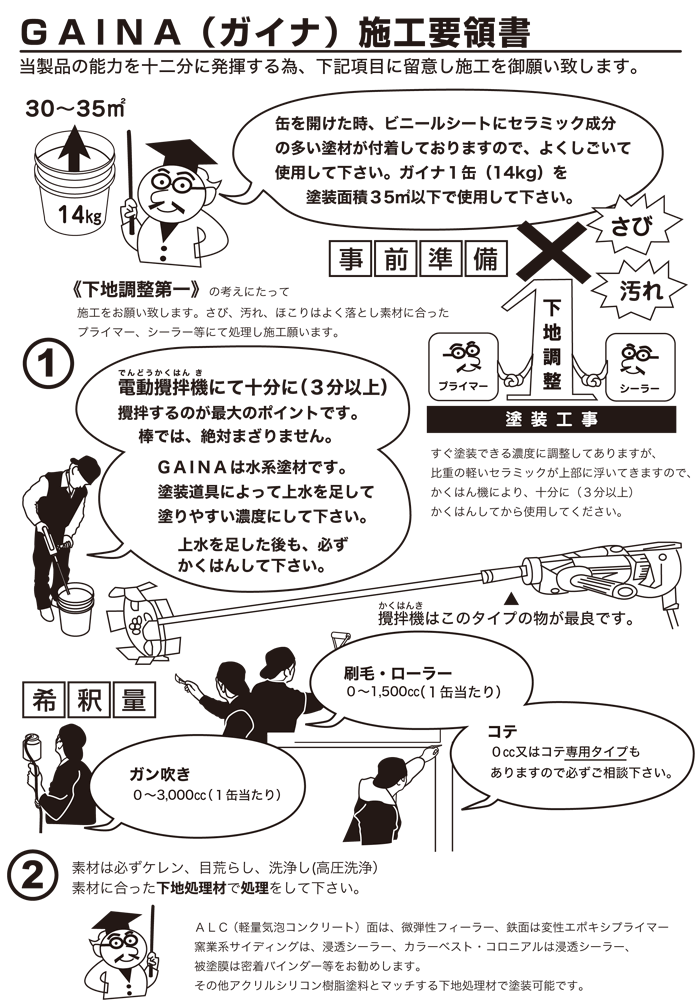 GAINAの施工方法